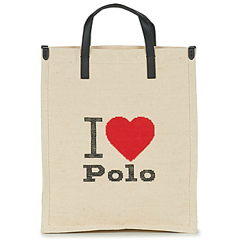 Borse Donna Tote bag / Borsa shopping Polo Ralph Lauren I HRT POLO CVS/LTHR Ecru