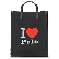 Borse Donna Tote bag / Borsa shopping Polo Ralph Lauren I HRT POLO CVS/LTHR Nero