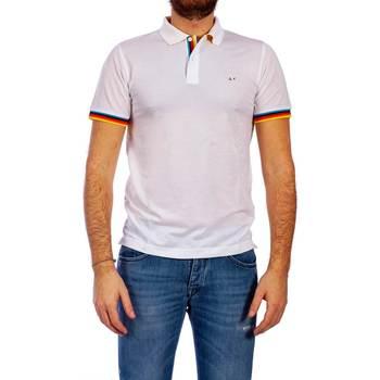 Abbigliamento Uomo Polo maniche corte Sun68 A19111 01 B.CO Polo Uomo Uomo Bianco Bianco