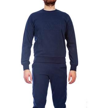 Abbigliamento Uomo Felpe Sun68 F19112 07 NAVY Felpa Uomo Uomo Blu Blu