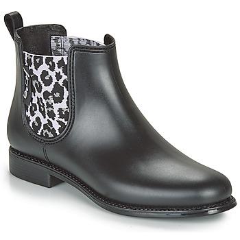 Scarpe Donna Stivali da pioggia Be Only DAKAR Nero / Leopard