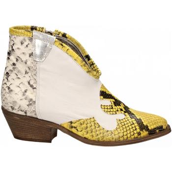 Scarpe Donna Stivaletti Le Pure  bianco-roccia-giallo