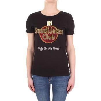 Abbigliamento Donna T-shirt maniche corte Gaudi 911BD64039 Nero
