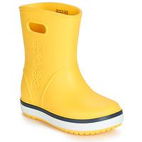 Scarpe Unisex bambino Stivali da pioggia Crocs CROCBAND RAIN BOOT K Giallo / Marine