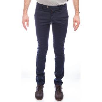 Abbigliamento Uomo Chino Berwich SCSLIM/TF3001/665 BS Blu Scuro