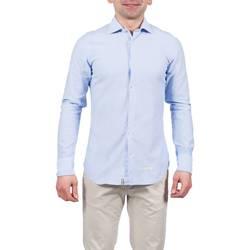 Abbigliamento Uomo Camicie maniche lunghe Tintoria Mattei 1UY6TYBABY REG Celeste