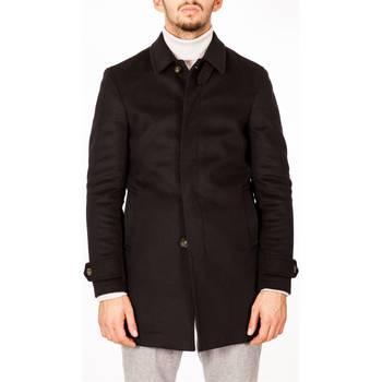 Abbigliamento Uomo Cappotti Julian Keen J1115B/T7528 80 NERO Cappotto Uomo Uomo Nero Nero