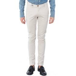 Abbigliamento Uomo Chino Michael Coal BRAD 2400 01 B.CO Bianco