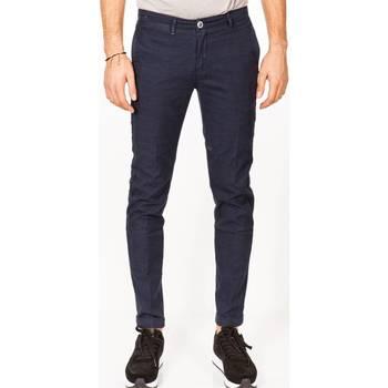 Abbigliamento Uomo Pantaloni 5 tasche Re-hash P249 7566 MUCHA 1559 Blu Chiaro