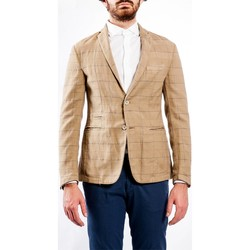 Abbigliamento Uomo Giacche / Blazer Barbati GI-JACOB 231 Giacca Uomo Uomo Beige Beige