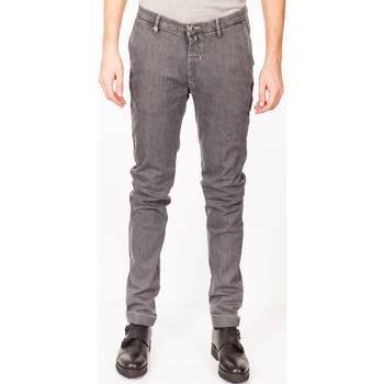 Abbigliamento Uomo Pantaloni 5 tasche Barbati ANTHONY 902/304 GRI Pantalone Uomo Uomo Grigio Scuro Grigio Scuro