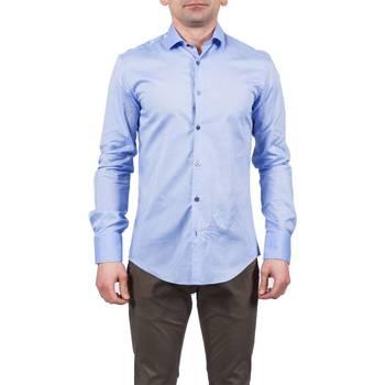 Abbigliamento Uomo Camicie maniche lunghe Koon N877 CELESTE Celeste