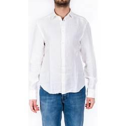 Abbigliamento Uomo Camicie maniche lunghe Peuterey MUGAMBI LIN PPT01 B Camicia Uomo Uomo Bianco Bianco