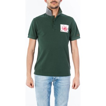 Abbigliamento Uomo Polo maniche corte Sun68 A18129/74 MILITARE Polo Uomo Uomo Verde Militare Verde Militare