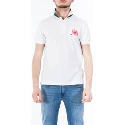 Abbigliamento Uomo Polo maniche corte Sun68 A18129/01 B.CO Polo Uomo Uomo Bianco Bianco