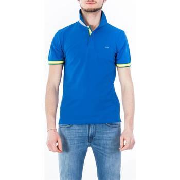 Abbigliamento Uomo Polo maniche corte Sun68 A18114/12 BLUE Azzurro