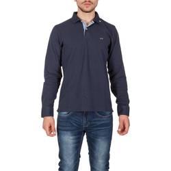 Abbigliamento Uomo Polo maniche lunghe Sun68 26110 07 NAVY Blu