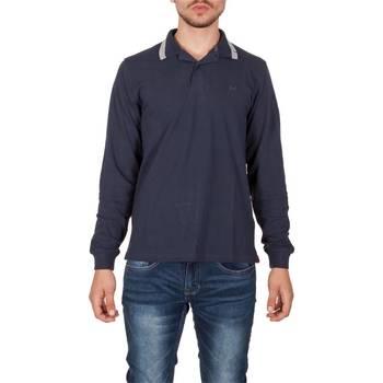 Abbigliamento Uomo Polo maniche lunghe Sun68 26104 07 NAVY Blu