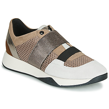 Scarpe Donna Sneakers basse Geox D SUZZIE Taupe / Argento