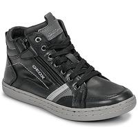 Scarpe Bambino Sneakers alte Geox JR GARCIA BOY Nero / Grigio