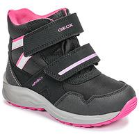 Scarpe Bambina Stivali da neve Geox J KURAY GIRL B ABX Nero / Rosa