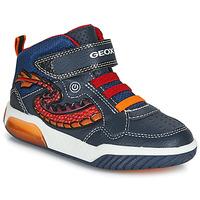 Scarpe Bambino Sneakers alte Geox J INEK BOY Blu / Rosso