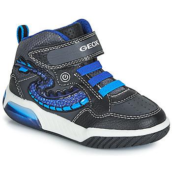 Scarpe Bambino Sneakers alte Geox J INEK BOY Nero / Blu
