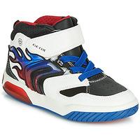 Scarpe Bambino Sneakers alte Geox J INEK BOY Bianco / Blu