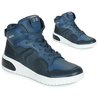 Scarpe Bambino Sneakers alte Geox J XLED BOY Blu