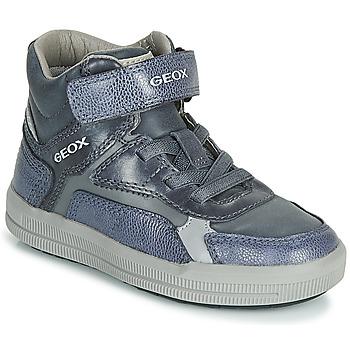 Scarpe Bambino Sneakers alte Geox J ARZACH BOY Blu / Grigio