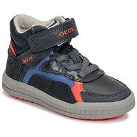 Scarpe Bambino Sneakers alte Geox J ARZACH BOY Blu / Arancio