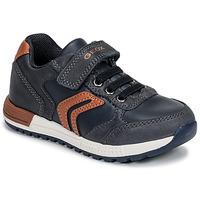 Scarpe Bambino Sneakers basse Geox B ALBEN BOY Blu / Cognac