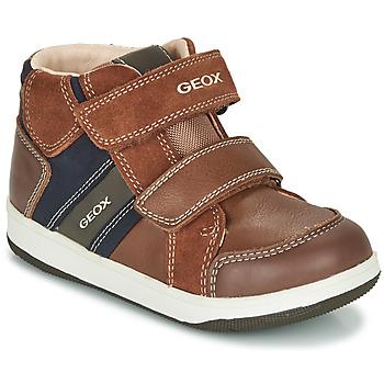 Scarpe Bambino Sneakers alte Geox B NEW FLICK BOY Marrone / Blu