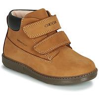 Scarpe Bambino Sneakers alte Geox B HYNDE BOY WPF Marrone