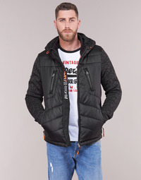 Abbigliamento Uomo Piumini Superdry STORM HYBRID ZIPHOOD Nero