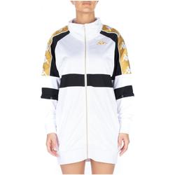 Abbigliamento Donna Abiti corti Kappa 222 BANDA 10 BANIK 913-white-black-yellow