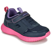 Scarpe Bambina Sneakers basse Geox J WAVINESS Navy / Pink