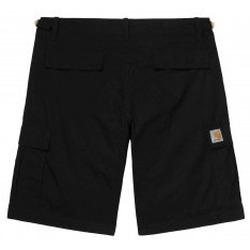 Abbigliamento Uomo Shorts / Bermuda Carhartt Work In Progress Pantaloncini Aviation Short - Black Rinsed Nero