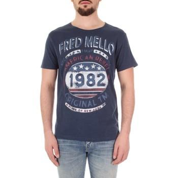Abbigliamento Uomo T-shirt maniche corte Fred Mello FM19S09TG Blu