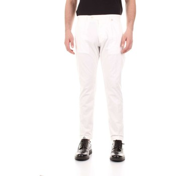 Abbigliamento Uomo Pantaloni 5 tasche Bicolore F2576-ZINCO Bianco