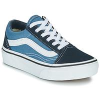 Scarpe Unisex bambino Sneakers basse Vans UY OLD SKOOL Marine / Bianco