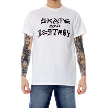 Abbigliamento Uomo T-shirt maniche corte Thrasher 110103 Bianco