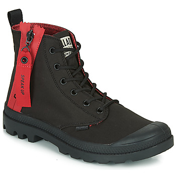 Scarpe Sneakers alte Palladium PAMPA UNZIPPED Nero