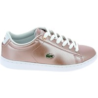 Scarpe Donna Sneakers basse Lacoste Carnaby Evo C Rose Blanc Rosa