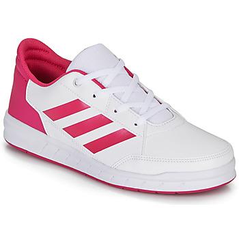 Scarpe Bambina Sneakers basse adidas Performance ALTASPORT K Bianco / Rosa