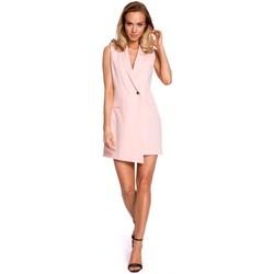 Abbigliamento Donna Giacche Moe M439 Abito blazer senza maniche - cipria