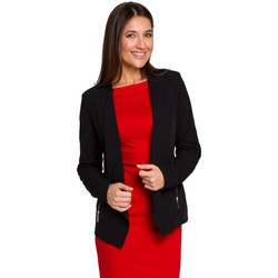 Abbigliamento Donna Giacche Moe M437 Tuta elegante con dettagli di cravatta - nero