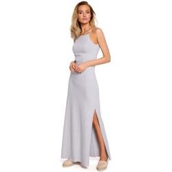 Abbigliamento Donna Top / Blusa Moe M432 Maxi abito in cotone con spalline - grigio
