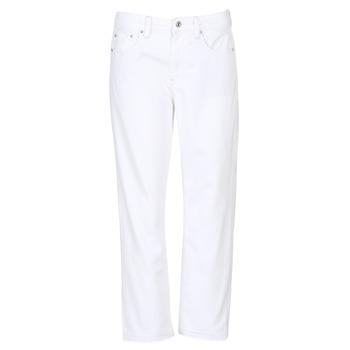 Abbigliamento Donna Jeans boyfriend G-Star Raw 3301 MID BOYFRIEND 7/8 Bianco