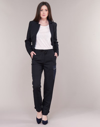 Abbigliamento Donna Pantalone Cargo G-Star Raw FELDSPAR HIGH STRAIGHT CARGO Marine